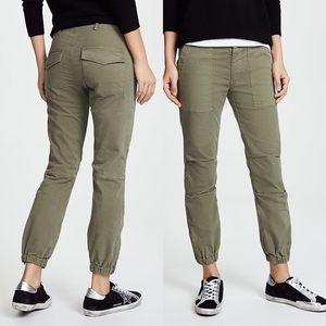 Nili Lotan Cropped Military Pants Camo Green Ankle